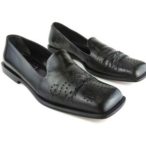 JOAN & DAVID Vintage Black Italian Leather Loafers